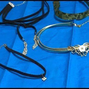 Four Ladies Choker Necklaces